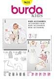 Patron de couture Burda Craft 9635-accessoires bébé tailles: Taille Unique