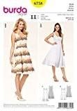 Patron de couture Burda Femme - 6758-Fit &Flare robes en 2 longueurs