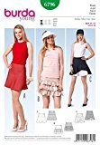 Patron de couture Burda femme facile 6796 Jupe d'été avec belle finition
