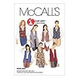 Patron de couture de la marque McCalls 2260 Gilet pour femme Tailles :  36/38