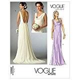 Patron de couture de robes pour femme Vogue Tailles 2965 4-6-8 femme mariée: