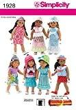 Patron Simplicity 1928 Patron de vêtements de poupée Taille :  OS (taille unique)
