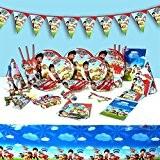 Paw Patrol Ensemble les enfants Chapeaux de fête d'anniversaire Assiettes Serviettes gobelets et plus complet pour fête 6invités