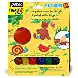 Pébéo Kit gouache de peinture aux doigts Les animaux du jardin 6 tubes 20 ml Assorties