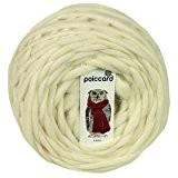 Pelote de grosse laine du Pérou Bulky 200g - Laine épaisse à tricoter - Blanc Ours Polaire