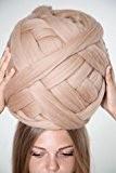 Pelote de laine, 23microns, pour bras à tricoter, tissage, itinérants (Latte) 1kg