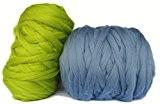 Pelote de laine XXL Géante pour tricot et crochet grosses mailles 100% Mérinos Super Comfy 2kg (Rose)