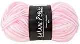 Pelote la laine perlee layette chiné - Rose Blanc