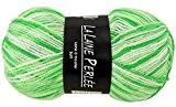 Pelote la laine perlee layette chiné - Vert Blanc