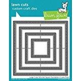 Pelouse fauve Coupe Grand cross-stitched carré universel de coupe sur mesure Craft Dies lf1182