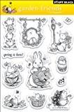 "Penny Black Clear Stamps 5 ""X7.5"" Amis De Feuille-Jardin"