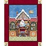 Père Noël Elf Panneau en tissu de Noël Par Jim Shore, Advent, Quilting, Noël, vacances, Père Noël, Père Noël. cp61500