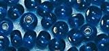 Perle rocaille - Bleu foncé - Garniture argent - Ø2,6mm-16 g - Rayher