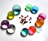 Perles 50 pièces de cristal sol / eau / boue de fleur - (Multi-couleur)