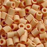 Perles à repasser, dim. 5x5 mm, la taille du trou 2,5 mm, chair (7), moyennes, 6000pièces