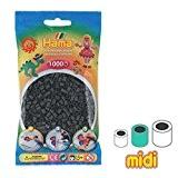 Perles à repasser Hama MIDI 5 mm Gris Foncé (n°71) x1000