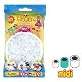 Perles à repasser Hama MIDI 5 mm Transparent (n°19) x1000