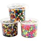 Perles à repasser Jumbo 10x10 mm, assortiment 3x550 pièces