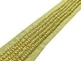 Perles D'Artisanat Garniture Sari Frontière 3.05 Cm Approvisionnement En Matières De Dentelle De Couture Par La Cour