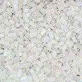 Perles graines Miyuki Half Tila Opaque Blanc Perle 5mm 7,8g