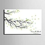 Personnalisé d'empreintes digitales peinture impression sur toile - feuilles tombées (y compris les 12 couleurs d'encre) , 60*80cm