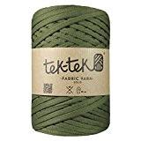 Petite pelote de Trapilho. Fil de coton / jersey recyclé pour tricot ou crochet. Créer vos objets déco tendances. (Vert)