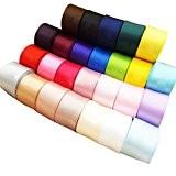 Phenovo Lot de 24pcs Ruban en Satin pour Artisanat DIY Couleur Mixte