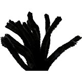 Pipe Cleaners, thickness 6 mm, L: 30 cm, 50 pcs, black