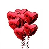 Pixnor 10pcs baudruche en forme de coeur rouge pour la décoration de l'Engagement de mariage anniversaire