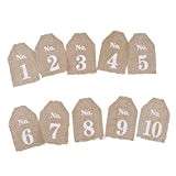 PIXNOR 10pcs tableau nombres Wedding Decor