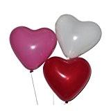 Pixnor Paquet de 50 ballons pour la décoration de mariage anniversaire Ballons Latex coeur forme (trois couleur mixte)