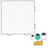 Plaque carrée assemblable 14.5 cm pour perles à repasser Hama MIDI x1