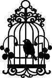 Pochoir A5, « Cage à oiseau »