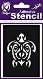 Pochoir adhésif - Tortue maori - 7x10 cm - Ki-Sign