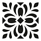 Pochoir Carreau Ciment 15 x15 cm - Stencil Carreaux Ciment - Pochoir Fleur