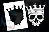 Pochoir pour aérographe motif crâne/tête de mort-skull's