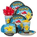Pokemon Fête d'anniversaire vaisselle standard Kit de nombre de parts 8