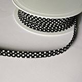 polka dot Spot Insert 2mm à embase Imprimé Cordon de passepoil Biais 100% coton coupe bordure, Coton, noir, 2 mm