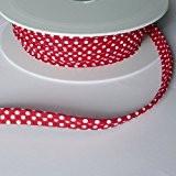 polka dot Spot Insert 2mm à embase Imprimé Cordon de passepoil Biais 100% coton coupe bordure, Coton, rouge, 2 mm