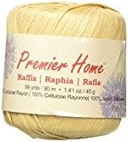 Premier fils solides raphia yarn-almond, d'autres, multicolore