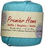 Premier fils solides raphia Yarn-Turquoise, d'autres, multicolore
