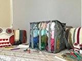 Premium Fil Stockage pour crochet et tricot (Sac uniquement) léger et portable avec poches pour vos livres et outils. Pochettes ...