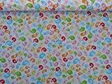 Prestige Tissus Petite Multicolore Imprimé Oiseaux Blanc Poly Coton Couture fanions bébé Couette quilting Crafts Robe qui Patchwork Tissu-au mètre