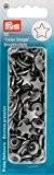 Prym 30 Boutons Pression Color-Snaps 12,4 mm toile argent gris