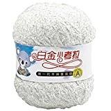 Pur Coton Épais Laine Fil pour le Tricot au Crochet Craft Lait Blanc,50G/Roll