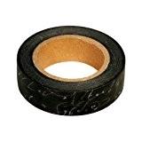 Ray - Masking tape en papier washi noir écriture blanche
