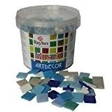 Rayher Hobby 1453108mosaïque 2cm Carreaux de mosaïque 325mm/1kg blau 0 9cm