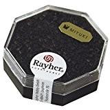 Rayher Hobby  14751576Delica de perles de rocaille diamètre 2 2mm métallique mat noir