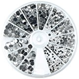 Rayher Hobby 15130801 Boîte de 580strass thermocollants en cristal de roche Taille: entre 2et 5mm