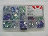 Rayher Hobby 15289000strass acrylique tailles assorties boîte de 1000 Couleurs assorties